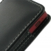 Sony Xperia Sola Pouch Case with Belt Clip (Black) genuine leather case by PDair
