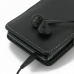 Sony Xperia TX Leather Sleeve Pouch Case (Black) protective carrying case by PDair