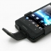 Sony Xperia Go Leather Flip Case top quality leather case by PDair