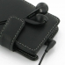 Sony Xperia Miro Leather Flip Cover (Black) protective carrying case by PDair