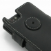 Sony Xperia Miro Leather Flip Cover (Black) handmade leather case by PDair