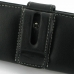 Sony Xperia Miro Leather Holster Case (Black) genuine leather case by PDair