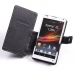 Sony Xperia ZL Leather Flip Cover genuine leather case by PDair