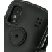 ZTE Skate Leather Flip Cover (Black) protective carrying case by PDair