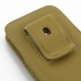 iPhone 5 5s Pouch Case with Belt Clip (Tan) genuine leather case by PDair