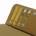 iPhone 6 6s Leather Wallet Case (Tan) top quality leather case by PDair
