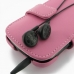 BlackBerry Curve 9220 Leather Flip Cover (Petal Pink) genuine leather case by PDair