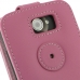 HTC One X+ Plus Leather Flip Top Case (Petal Pink) protective carrying case by PDair