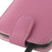 HTC One X+ Plus Leather Flip Top Case (Petal Pink) handmade leather case by PDair