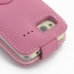 HTC Radar Leather Flip Top Case (Petal Pink) protective carrying case by PDair