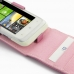 HTC Radar Leather Flip Top Case (Petal Pink) genuine leather case by PDair