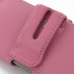 iPhone 5 5s Leather Holster Case (Petal Pink) genuine leather case by PDair