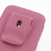 iPhone 5 5s Pouch Case with Belt Clip (Petal Pink) genuine leather case by PDair