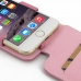 iPhone 6 6s Leather Flip Top Case (Petal Pink) genuine leather case by PDair