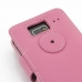 Motorola Razr i Leather Flip Cover (Petal Pink) protective carrying case by PDair