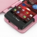 Motorola Razr i Leather Flip Cover (Petal Pink) genuine leather case by PDair