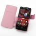 Motorola Razr i Leather Flip Cover (Petal Pink) offers worldwide free shipping by PDair