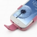 Samsung Galaxy S3 Leather Flip Case (Petal Pink) genuine leather case by PDair