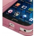 Samsung Galaxy S WiFi 5.0 Leather Flip Cover (Petal Pink) handmade leather case by PDair