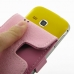 Samsung Galaxy mini 2 Leather Flip Case (Petal Pink) handmade leather case by PDair