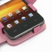 Samsung Galaxy Player 3.6 Leather Flip Cover (Petal Pink) handmade leather case by PDair