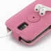 Samsung Galaxy S2 LTE i9210 Leather Flip Top Case (Petal Pink) handmade leather case by PDair