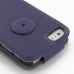 iPhone 5 5s Leather Flip Top Case (Purple) protective carrying case by PDair