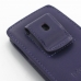 iPhone 5 5s Pouch Case with Belt Clip (Purple) handmade leather case by PDair