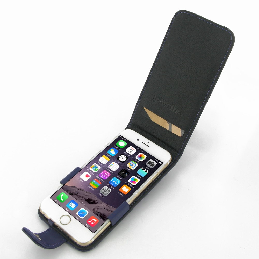 iphone 6 6s leather flip case purple pdair sleeve. Black Bedroom Furniture Sets. Home Design Ideas