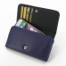 iPhone 6 6s Leather Wallet Case (Purple) custom degsined carrying case by PDair