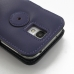 Samsung Galaxy S4 Leather Flip Cover (Purple) protective carrying case by PDair