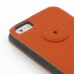 iPhone 5 5s Leather Flip Case (Orange) protective carrying case by PDair