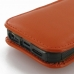 iPhone 5 5s (in Slim Cover) Pouch Clip Case (Orange) genuine leather case by PDair