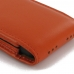 iPhone 5 5s (in Slim Cover) Pouch Clip Case (Orange) top quality leather case by PDair
