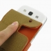 Samsung Galaxy S3 Leather Flip Case (Orange) handmade leather case by PDair