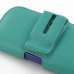 iPhone 5 5s (in Slim Cover) Holster Case (Aqua) handmade leather case by PDair