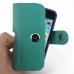 iPhone 5 5s (in Slim Cover) Holster Case (Aqua) top quality leather case by PDair
