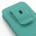 iPhone 5 5s Pouch Case with Belt Clip (Aqua) genuine leather case by PDair