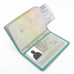 Travel Passport Leather Wallet Holder Case (Aqua) genuine leather case by PDair