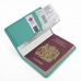 Travel Passport Leather Wallet Holder Case (Aqua) top quality leather case by PDair