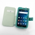 Samsung Galaxy S WiFi 5.0 Leather Flip Cover (Aqua) genuine leather case by PDair