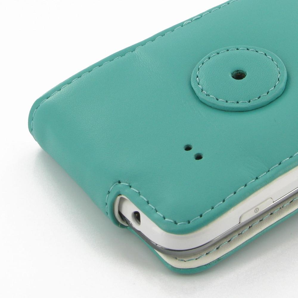 Samsung Galaxy Ace 3 Leather Flip Case Aqua PDair