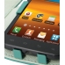 Samsung Galaxy S2 Epic Leather Flip Cover (Aqua) genuine leather case by PDair