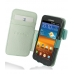 Samsung Galaxy S2 Epic Leather Flip Cover (Aqua) custom degsined carrying case by PDair