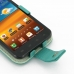 Samsung Galaxy S2 Epic Leather Flip Case (Aqua) genuine leather case by PDair