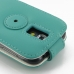 Samsung Galaxy S4 Mini Leather Flip Case (Aqua) handmade leather case by PDair