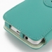 Samsung Galaxy Player 4.2 Leather Flip Cover (Aqua) handmade leather case by PDair