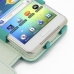 Samsung Galaxy Player 4.2 Leather Flip Cover (Aqua) genuine leather case by PDair