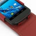 Acer Liquid E1 Leather Flip Top Case (Red) handmade leather case by PDair