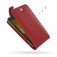 Leather Flip Top Case for Asus ZenFone 5 (Red)